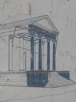 Colonnes romaines (panneau signalétique)