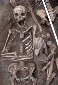 Squelettes mérovingiens