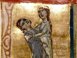 Portrait supposé de Jaufré Rudel (1100 -1148) seigneur de Blaye, Troubadour ami d'Aliénor d'Aquitaine.