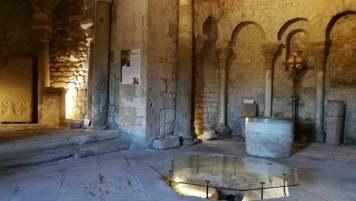 Espace central du baptistère