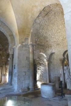 Voûte quadrangulaire et l'abside ouest