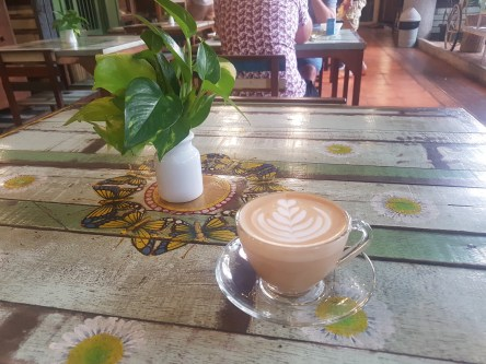 Latte in the morning