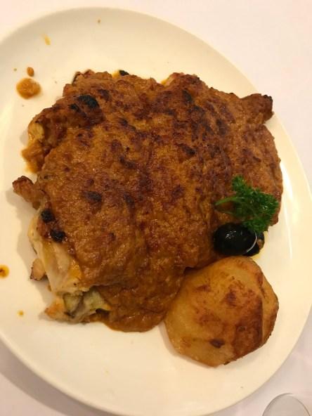 Portuguese cuisine at Escada - African chicken, it's NOT boneless. super hard to eat...