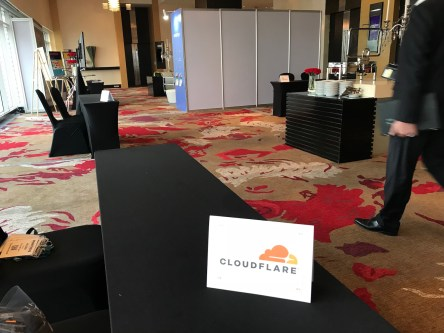 Cloudflare booth!