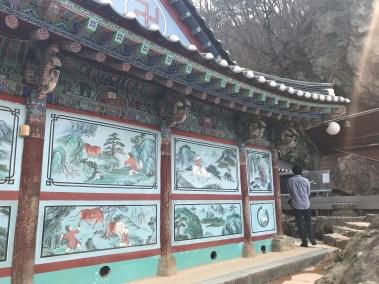 고란사의 벽화. Fresco @ Goran temple