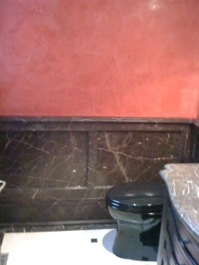 Replication faux marble with red venitian plaster
