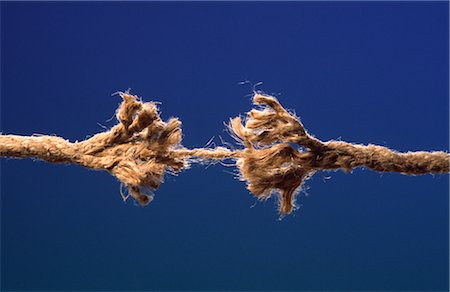 Image of Fraying Rope about to Break