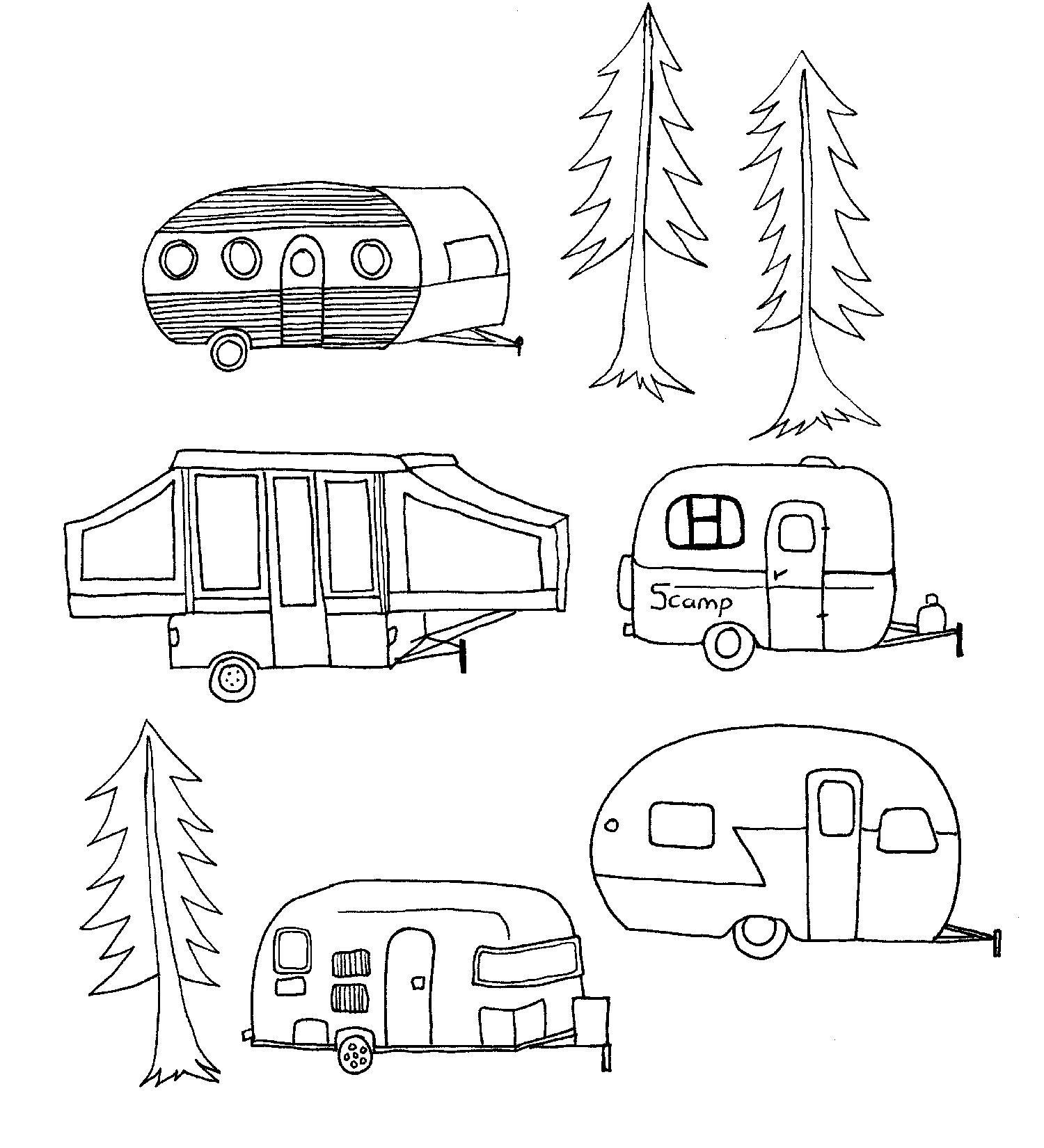 Fifth Wheel Camper Coloring Pages Coloring Pages