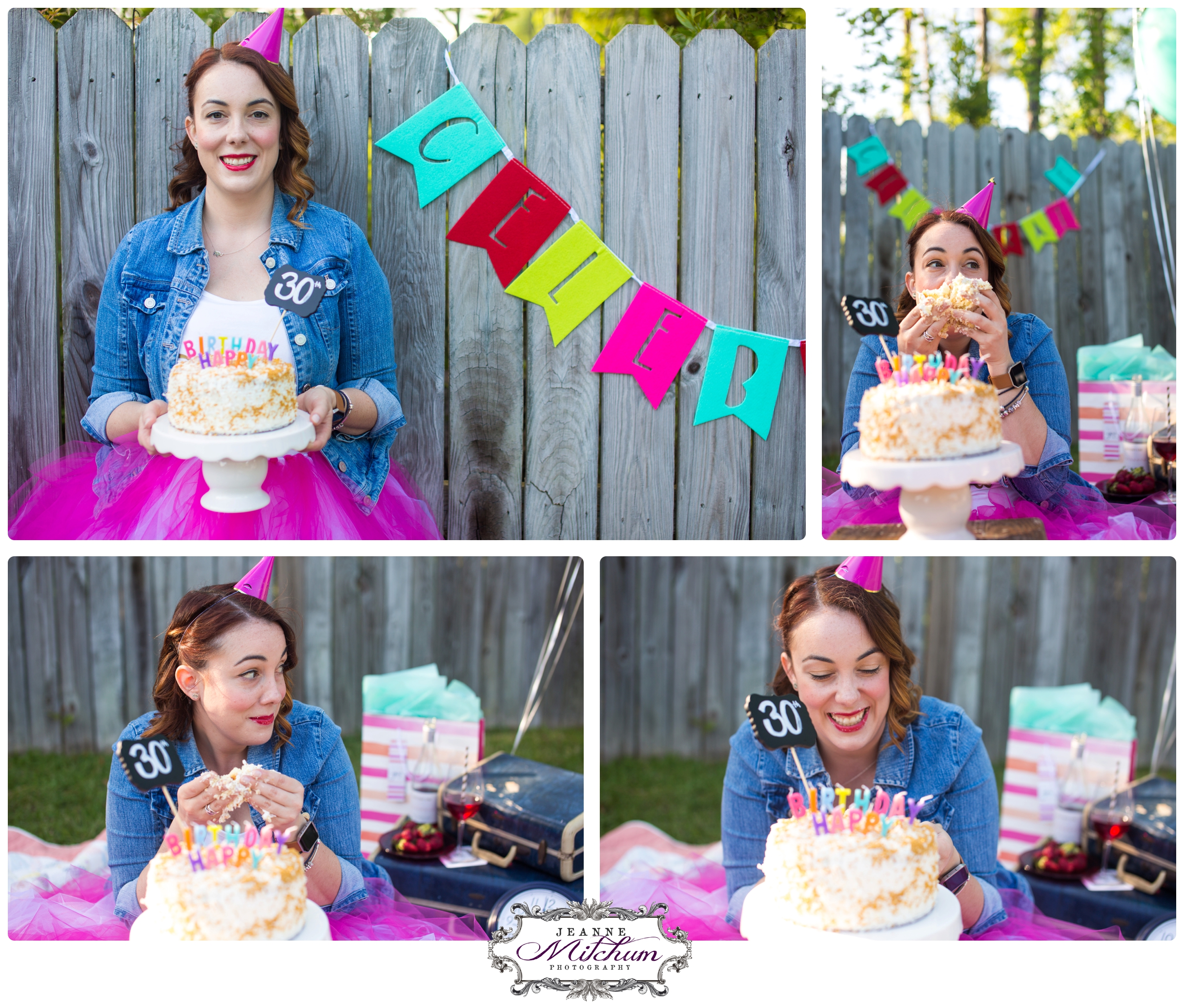 A Cake Smash Photo Shoot For A 30 Year Old S Birthday