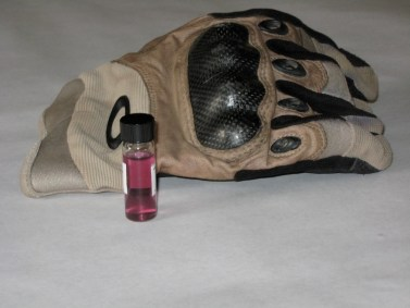 This is a tincture of a glove and the glove that was used in combat. Tincture can be used as a fixative.