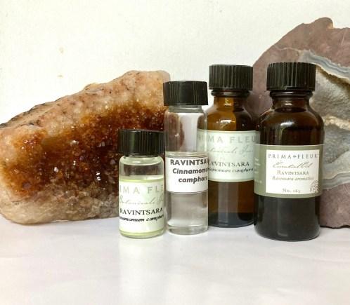 Ravintsara oil - different sized bottles