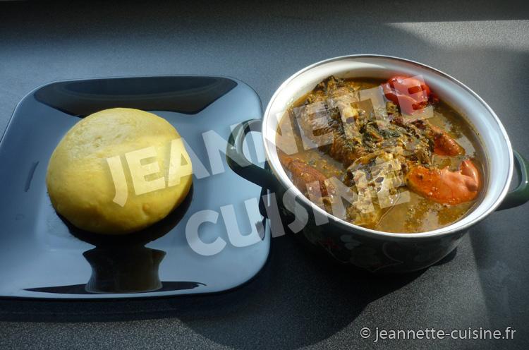 La sauce ntro  Plat Africain  Jeannette Cuisine