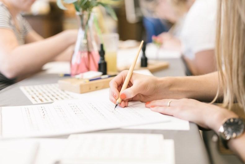 kostenlose Übungsbögen kostenlos umsonst Kalligrafie lernen, Kalligraphie, Kurs, Workshop, Brushlettering