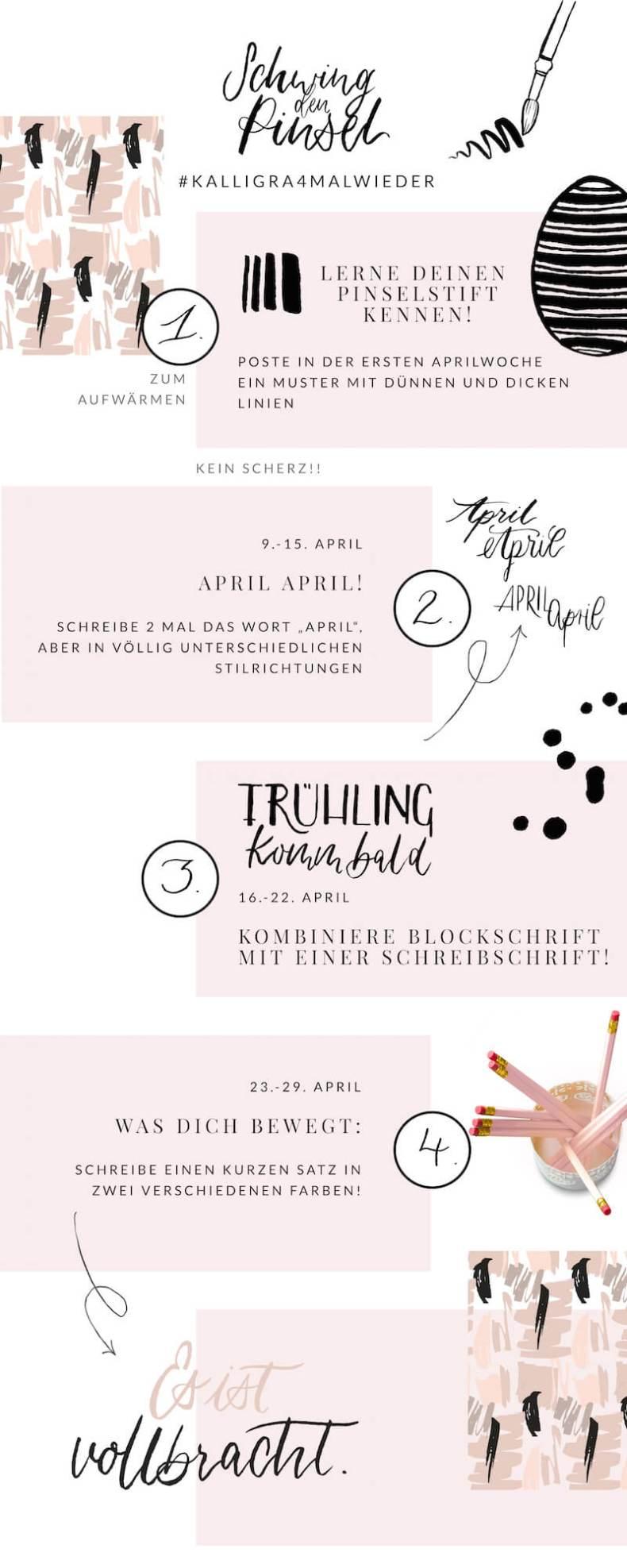 Brushlettering Challenge Kalligraphie