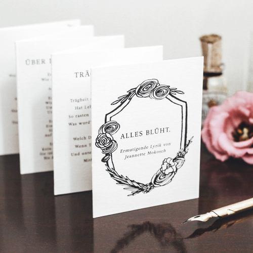 Gedichte Poesie Geschenk Ermutigung Kalligrafie Kalligraphie Illustrationen Mitbringsel Gastgeschenk