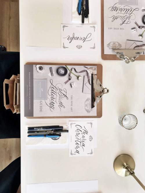Guide Übungsbögen Brush Lettering Brushlettering Hand Lettering Handlettering Pinselschrift Pinsel Kalligrafie Kalligraphie Kurs lernen Workshop Brushpen Brush Pen Tombow