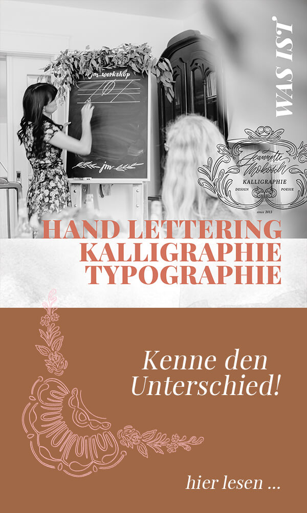 Hand Lettering Kalligraphie Typographie