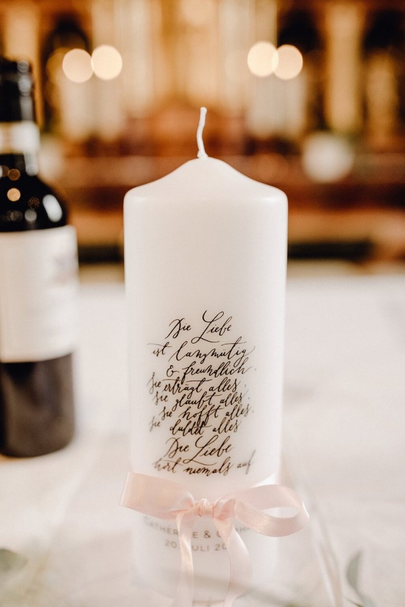 Traukerze Spruch Hochzeitskerze Taufkerze