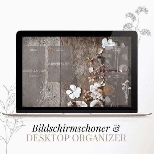 Bildschirmschoner Trockenblumen Desktop Chaos Ordnung