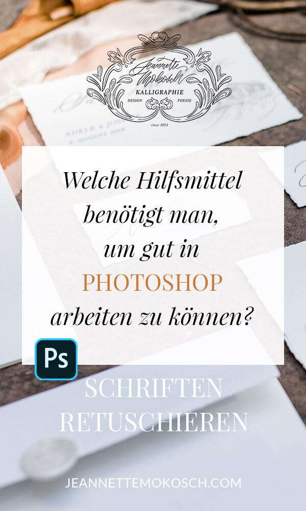 Handschrift digitalisieren in Photoshop / Schriftretusche Hand Lettering & Moderne Kalligrafie