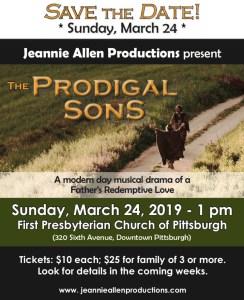 Musical - Prodigal Sons @ First Presbyterian Church of Pittsburgh