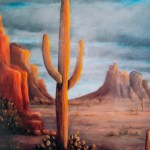 Light On Saguaro