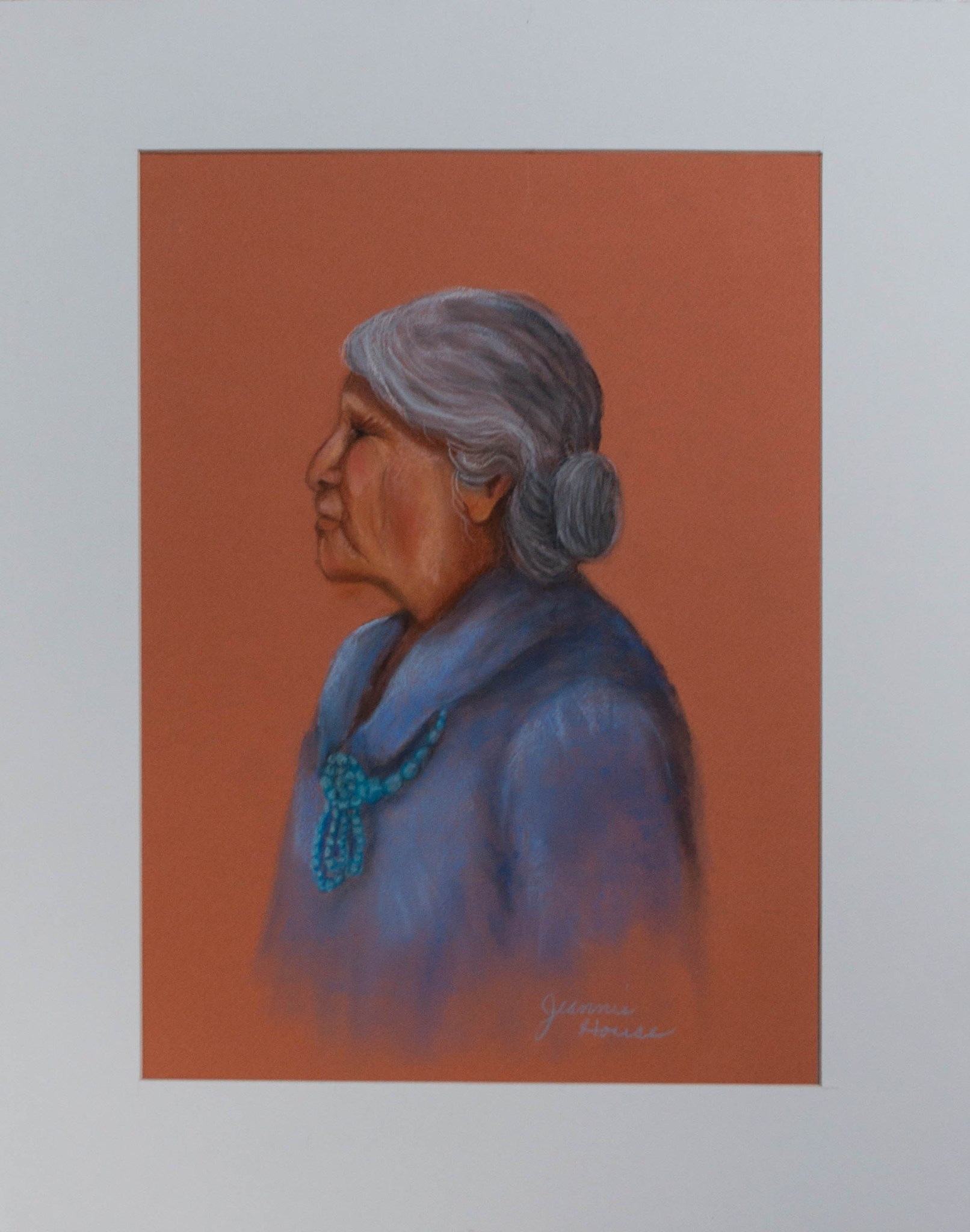 Navajo Woman by Jeannie House