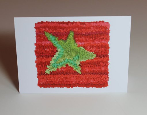 Green Star Greeting Card