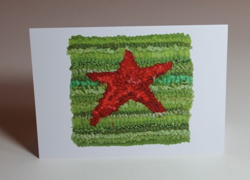 Red/Green Star Greeting Card
