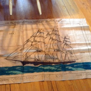 "Vintage ""Flying Cloud"" Schooner Pattern"