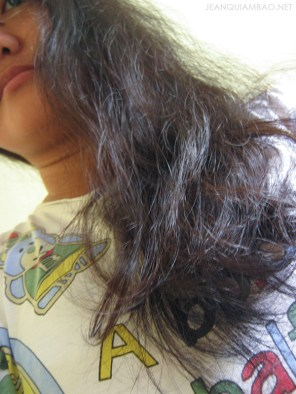 Used regular conditioner and without leave-on treatment