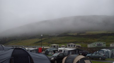 Misty morning over the campsite