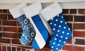 blue xmas stockings
