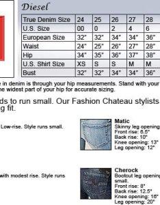 Diesel jeans size chart also hub rh jeanshub
