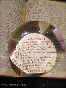 In the beginning was the Word -- Jesus Christ (John 1:1)