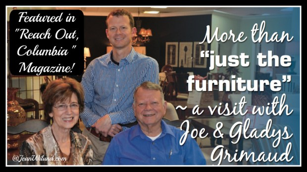"""Keith, Gladys & Joe Grimaud featured in January 2015 """"Reach Out Columbia"""" magazine. An inspiring story of God, Family & Country"""