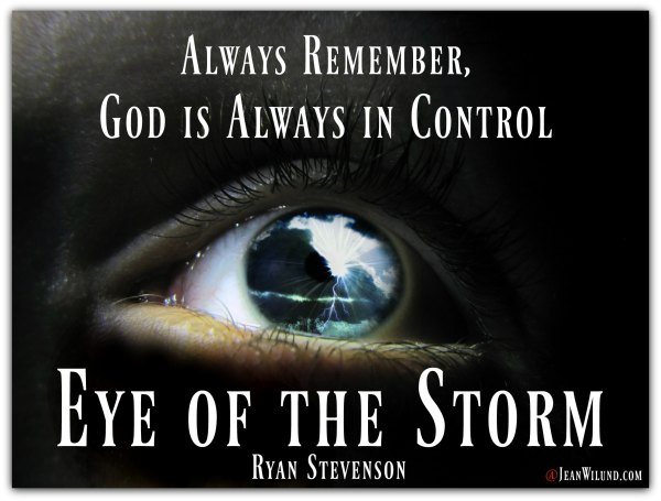 "Always remember, God is always in control. Watch Ryan Stevenson's music video Eye of the Storm as part of our ""Storm Training."""