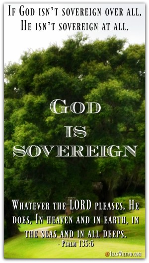 God is Sovereign - What That Means & Why We Care (via www.JeanWilund.com)