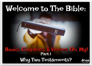 Welcome to the Bible Why 2 Testaments? via www.jeanwilund.com
