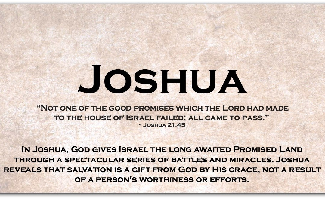 JOSHUA ~ Dipping Our Toes into the Book of Joshua