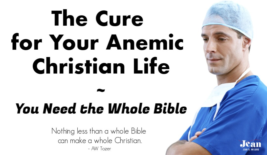 The Cure for Your Anemic Christian Life ~ You Need the Whole Bible