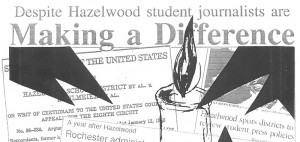 The first Making a Difference in 1988 showed how students reported the impact of the Hazelwood decision.