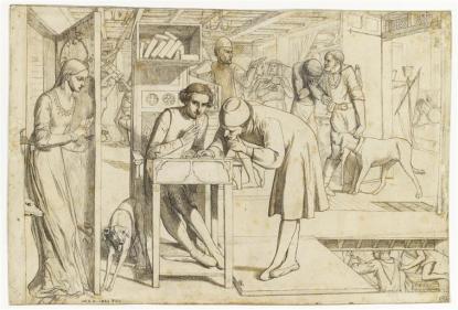 Lorenzo et Isabella, d'après John Keats, William Holman Hunt (C) RMN-Grand Palais (musée d'Orsay) / Thierry Le Mage