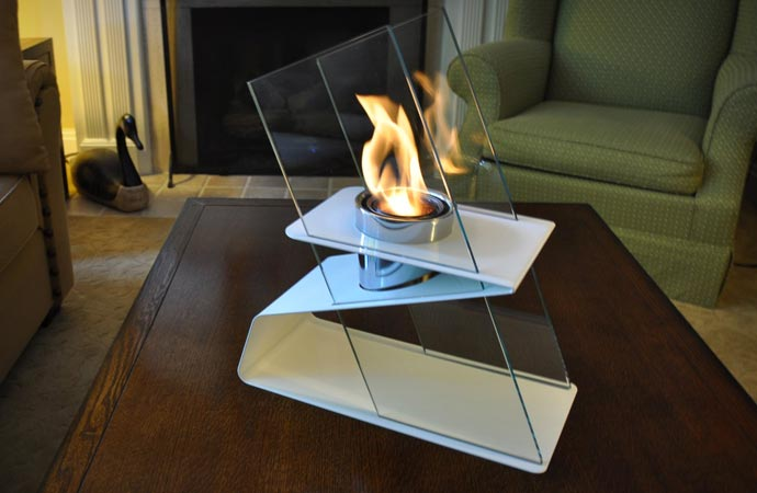 Fireplace Holder Table Top Fire Burner | By Decorpro