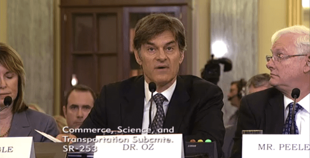 Dr. Oz testifies