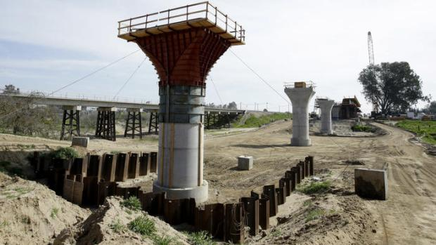 Bridge supports for high speed rail
