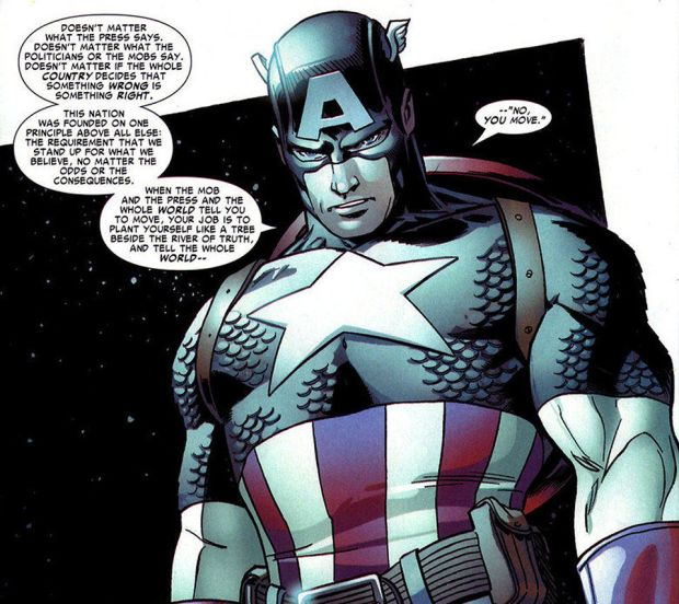 Captain America speaks