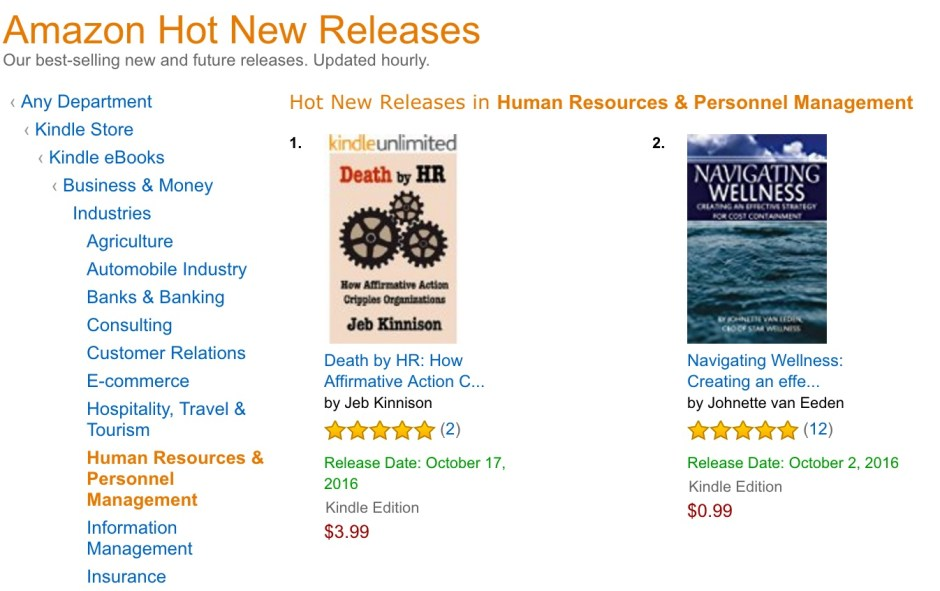 Death by HR hits #1 Hot New Releases for HR