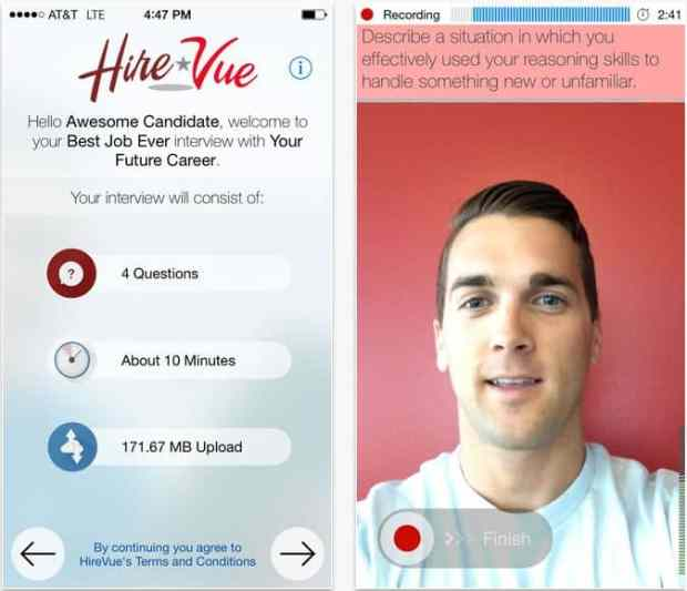 HireVue app -- Google Play
