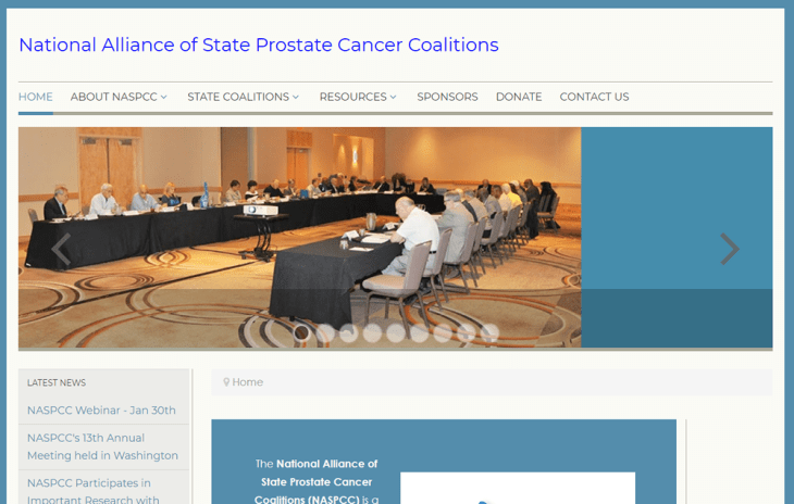 screenshot of NASPCC